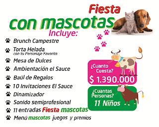Fiesta con mascotas cumpleaños campestre Bogota