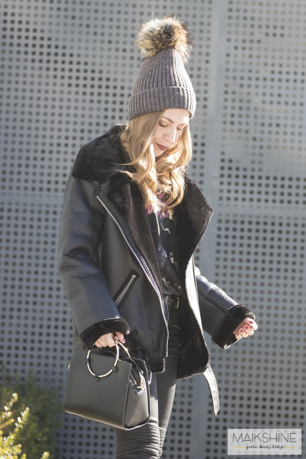 Outfit shearling jacket