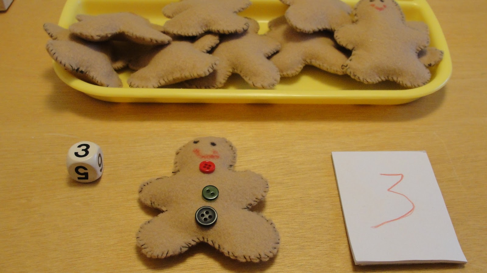 Olives And Pickles Christmas Gingerbread Man Counting