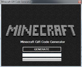 Minecraft Gift Code Generator Free Downloadable ~ Free