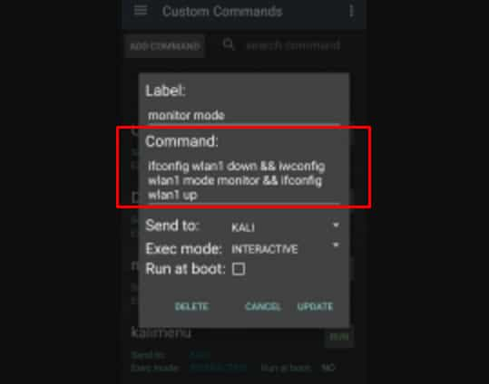 Kita akan mengubah Adapter ke mode Monitor