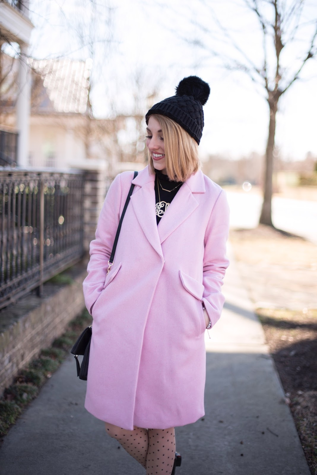 Pink Coat - Something Delightful Blog