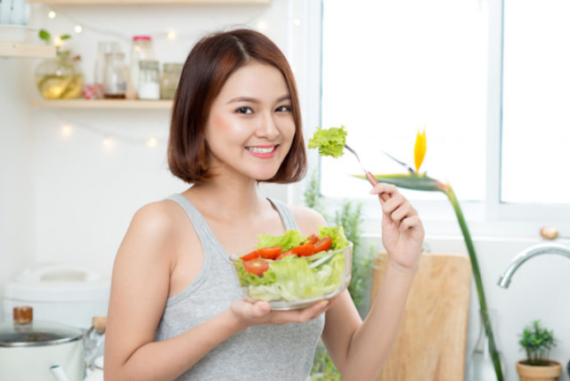 melakukan diet yang sehat