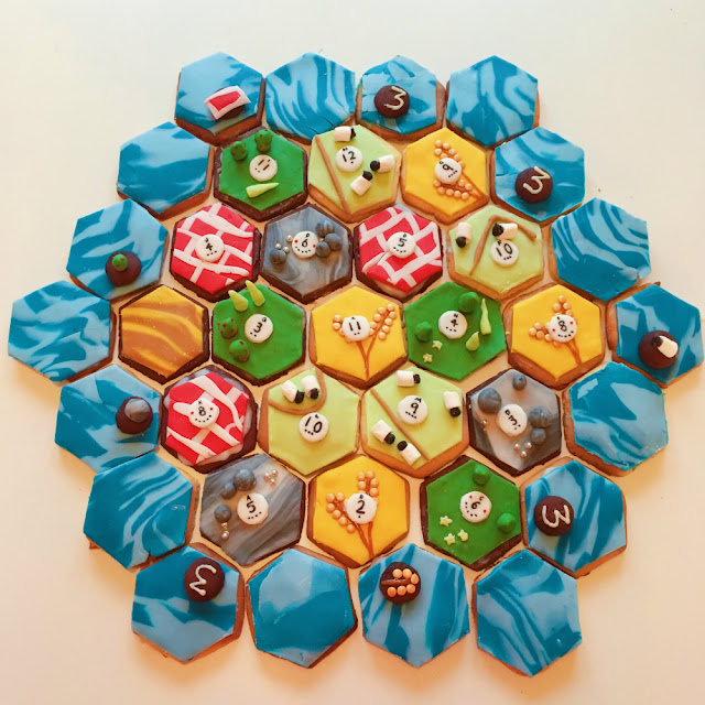 Cookies of Catan edible Settlers of Catan playing board