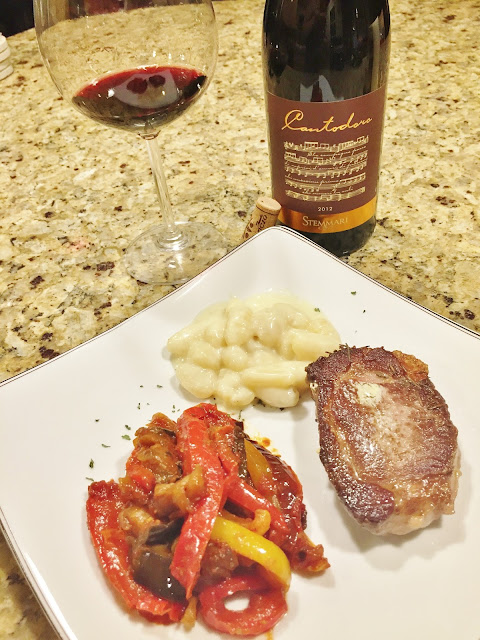 Sicilian wine and food pairing with nero d'avola