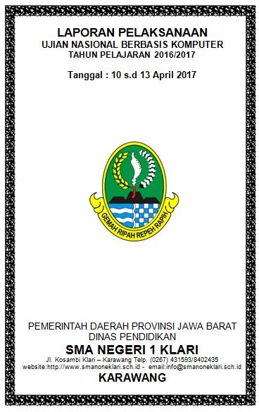 Laporan Pelaksanaan Unbk 2017 Dapodik Sma Karawang