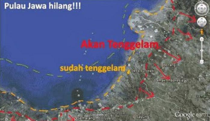 Berhati Hatilah Pulau Jawa Akan Tenggelam