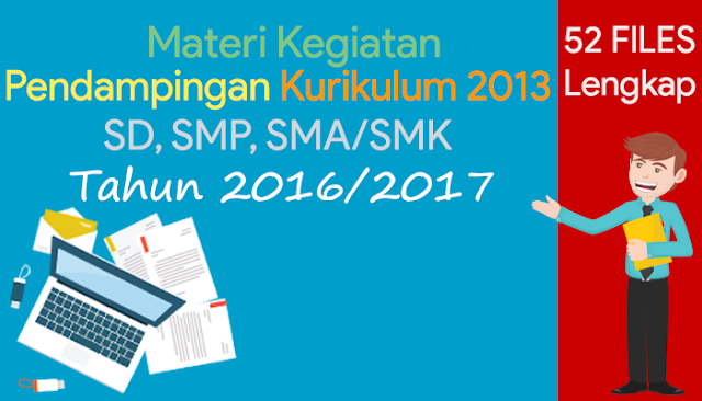 Kumpulan Materi Kegiatan sebagai Pendamping Kurikulum 2013 (SD, SMP, SMA/SMK) Terbaru Lengkap