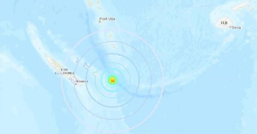 Terremoto en Nueva Caledonia de Magnitud 7.5 y Alerta de Tsunami (Hoy Martes 4 Diciembre 2018) Sismo, Temblor, Epicentro en el Océano Pacífico - USGS - www.earthquake.usgs.gov