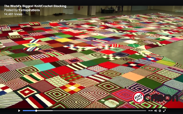 Yarnspirations, World's Biggest Stocking, Guinness World Record