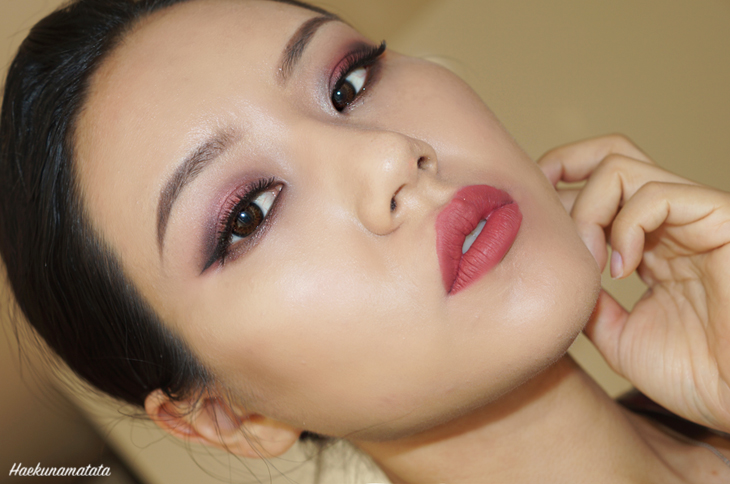 Vampy Burgundy Makeup FOTD Colourpop LAX and Solow Review FOTD