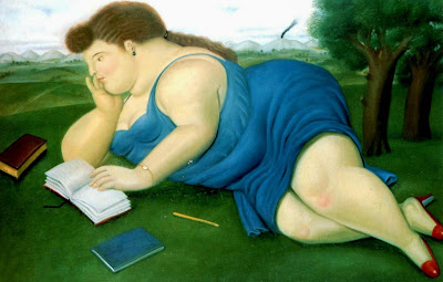 Fernando Botero. Woman reading. 1987