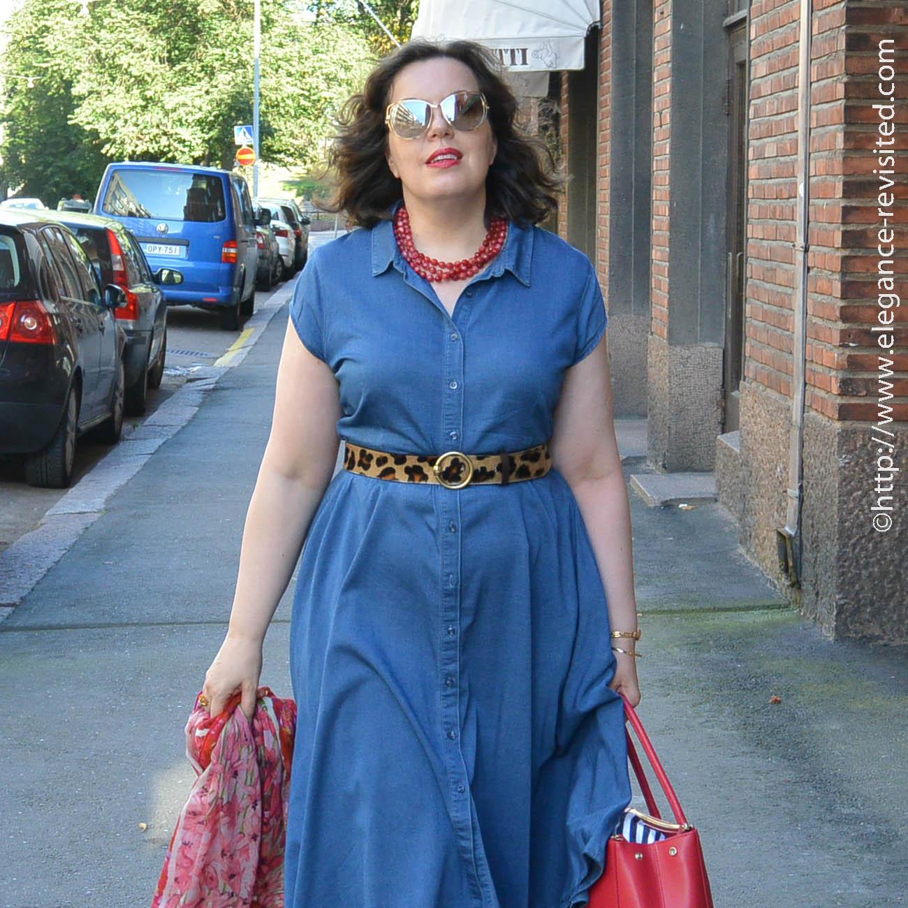 accessorizing a dress