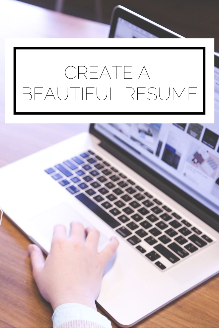 Create A Beautiful Resume