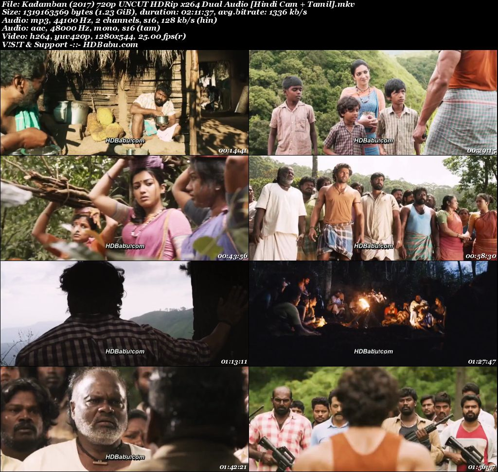 Kadamban (2017) 720p UNCUT HDRip x264 Dual Audio [Hindi Cam + Tamil] - 1.2GB Screenshot