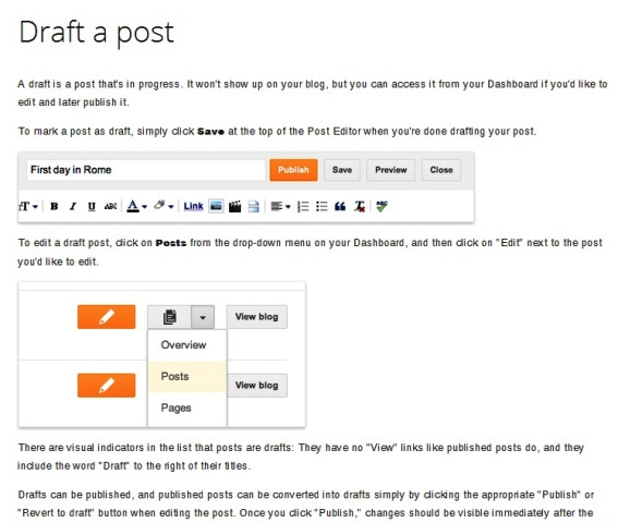 Draft Posting di Blogspot