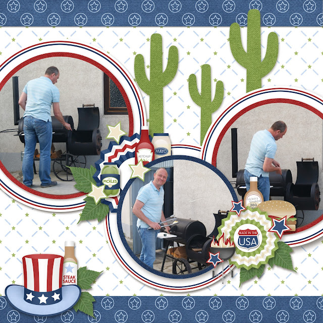 All American BBQ and Tumble Weed Templates