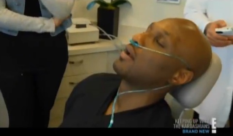 Photo of Lamar Odom at the hospital