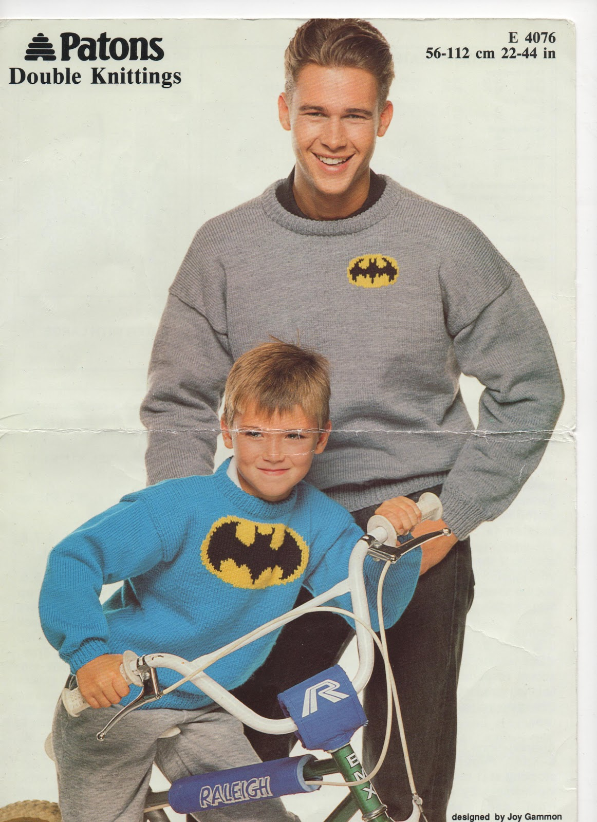 Hello Naka Batman Jumper Knitting Pattern