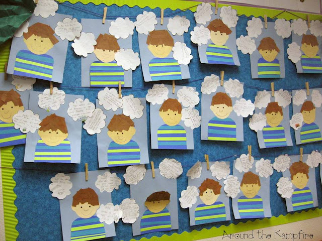 Author's viewpoint writing craft for The Art Lesson by Tomie dePaola bulletin board display