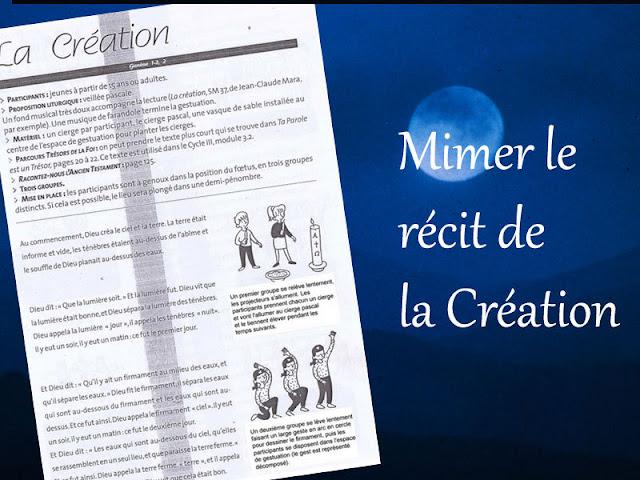 MIMER LE RECIT DE LA CREATION