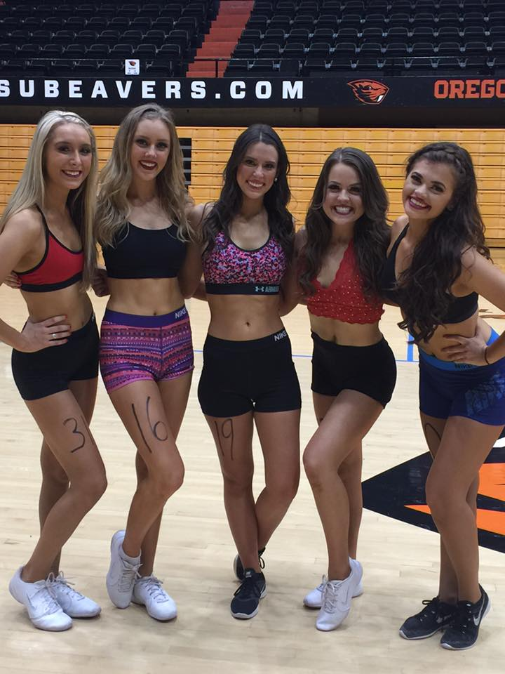 Opinion Oregon state university cheerleaders that