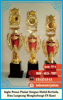 pesan medali, piala kaca, piala trofi