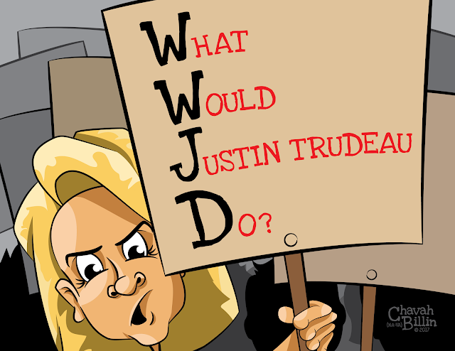 WWJD JUSTIN TRUDEAU EDITORIAL CARTOON