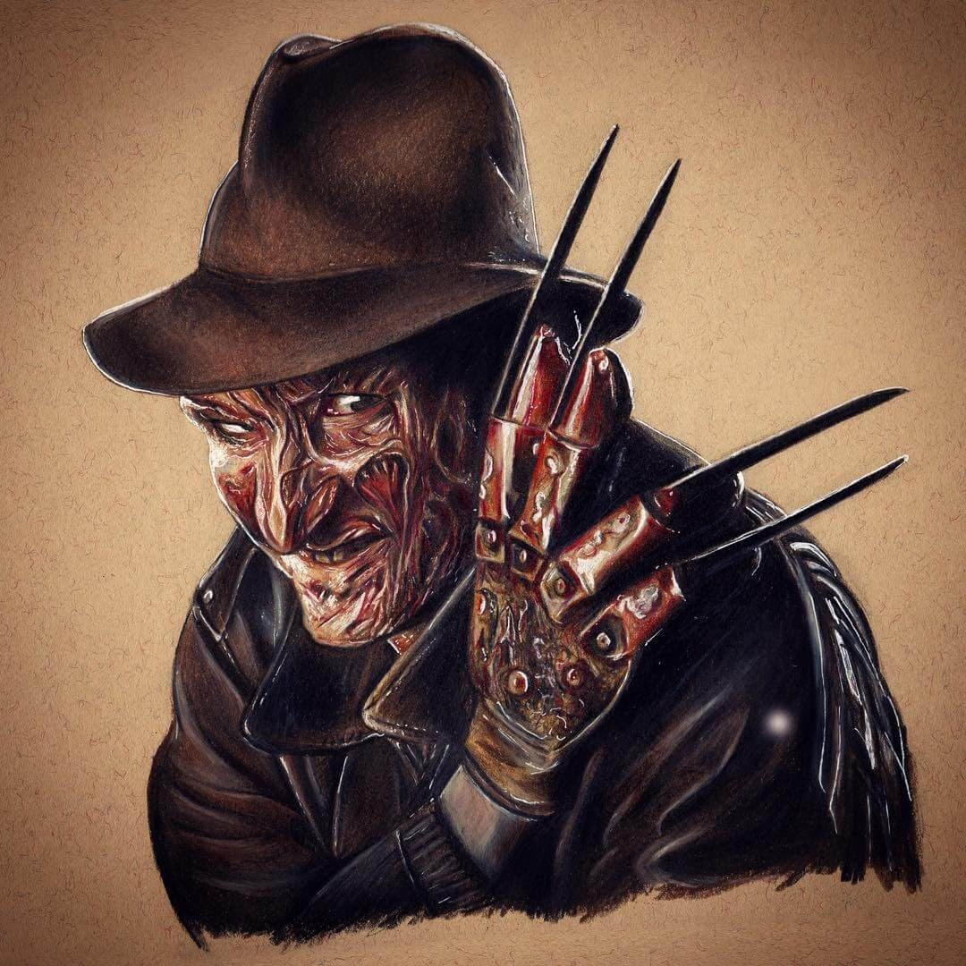 04-Freddie-Krueger-A-Nightmare-on-Elm-Street-Chris-Superhero-and-Villain-Realistic-Pencil-Drawings-www-designstack-co