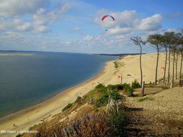 Playa en las Landas, Francia