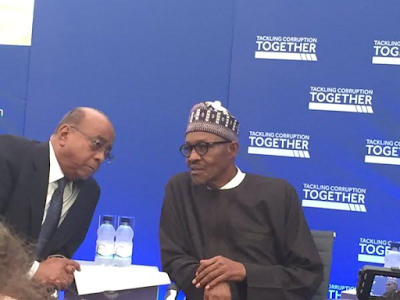 Buhari president of Nigerian at Commonwealth Tackling Corruption Together Conference in the UK