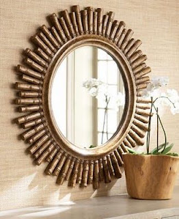 bingkai kaca cantik terbuat dari bambu