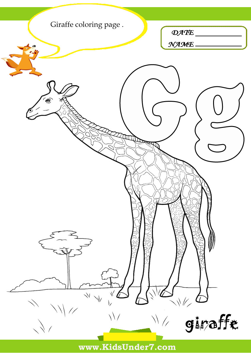 Kids under 7 alphabet coloring book