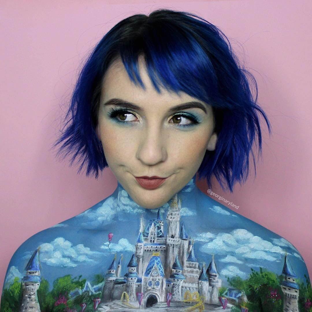 14-Disney-Castle-Georgina-Ryland-Mehron-Makeup-Body-Painting-www-designstack-co
