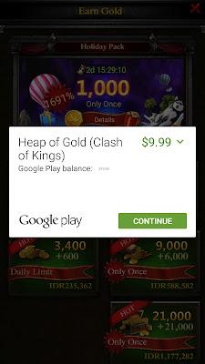 Cara Dapat Gold Clash of Kings Gratis