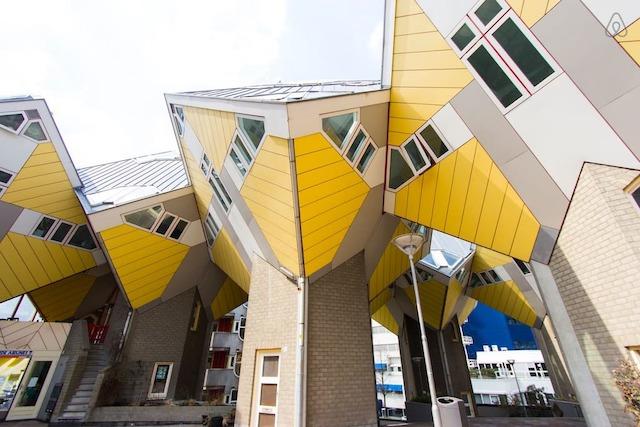 Hospedagem em Roterdã - Casas Cubo