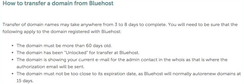 Transfer a Domain to Bluehos