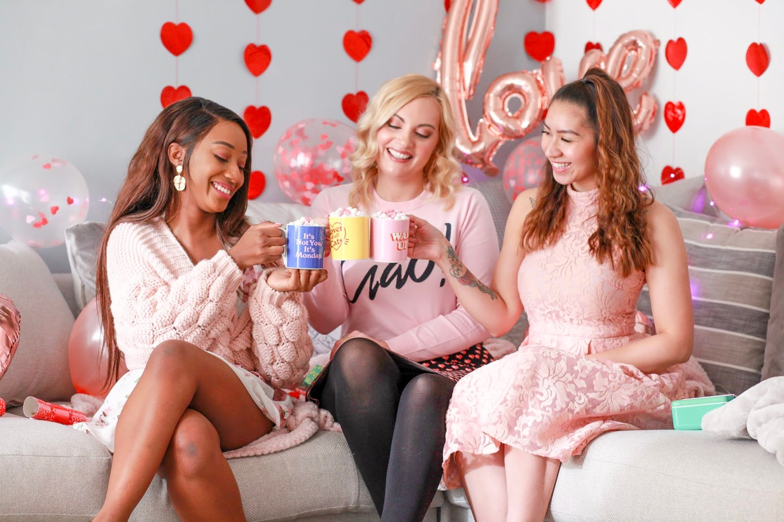 Celebrating Galentine's Day feat. Yes Studio, UK Blogger, Katie Kirk Loves, Galentines Gifts, Gifts for Her, Valentines Gifts, Girls Night, Girlie Day, Girls Night In, Valentines Style, Yes Studio Designs