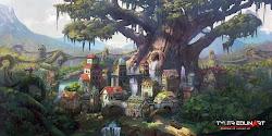 deviantart elf fantasy forest elven concept town cities edlin island commission deviant always paper game tyler