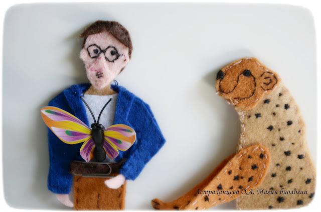 Пальчиковый театр, ученый, бабочка, гепард