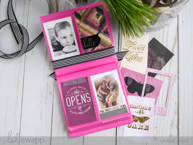 Super Easy Heidi Swapp Instax Vintage Gift Album by Jamie Pate | @jamiepate for @heidiswapp