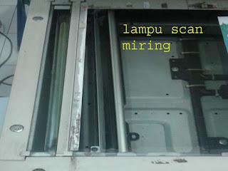 lampu scanner miring