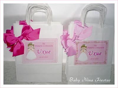bolsas personalizadas comunion niña
