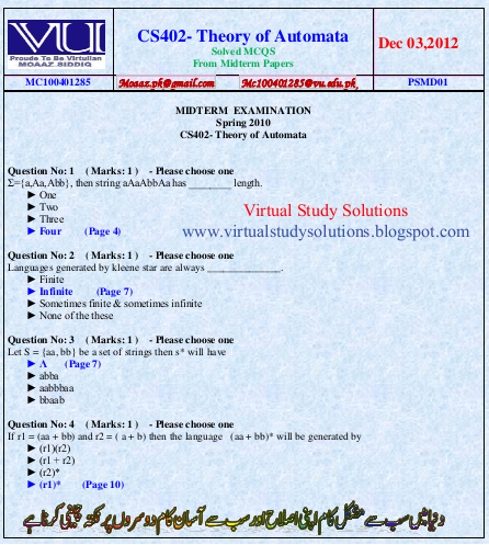 Cs604 midterm solved papers 2013