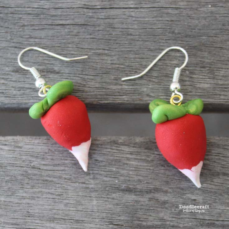 radish earrings doodlecraft harry potter lovegood radish 7132