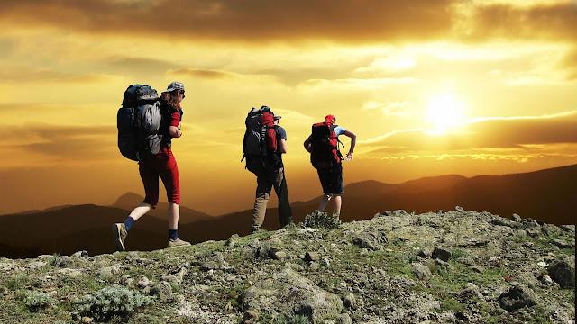 hiking on mount