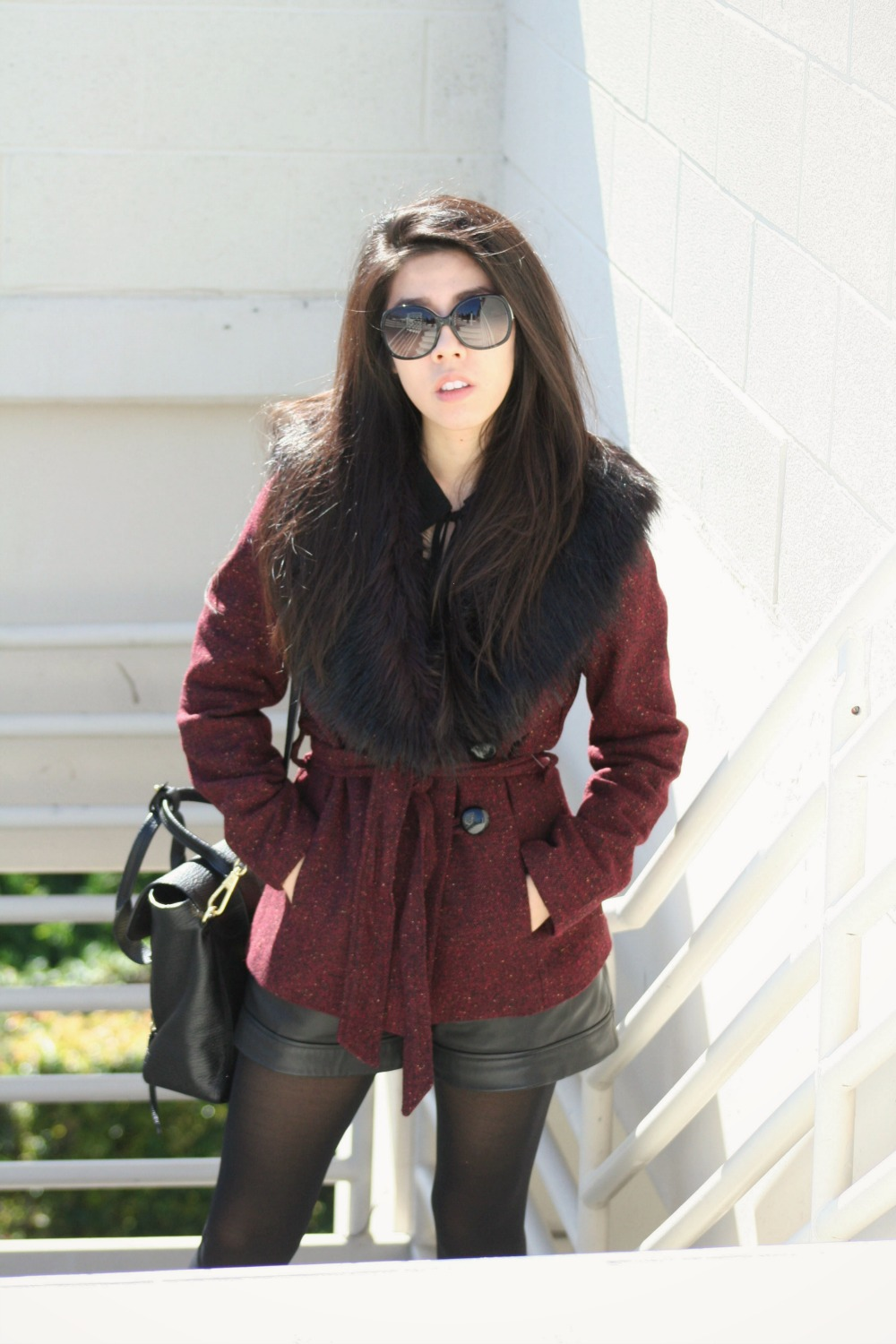Burgundy and Black Casual School Outfit_Adrienne Nguyen_Invictus