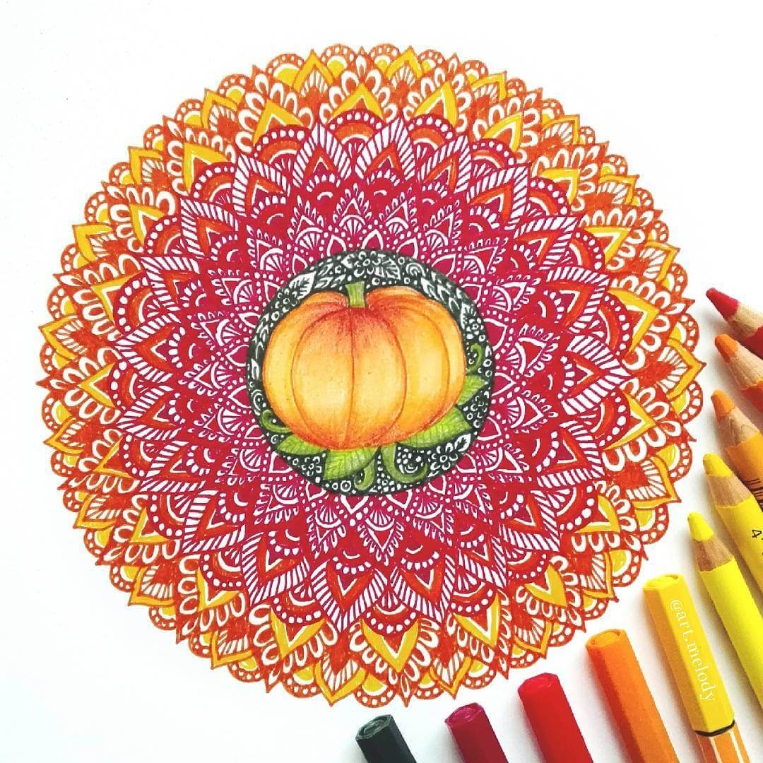 12-Pumpkin-Gyöngyi-Szabó-Bright-and-Colorful-Mandala-Drawings-www-designstack-co