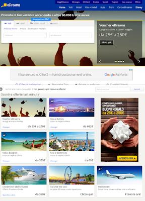eDREAMS - leader in Italia nella vendita di voli e vacanze online!!