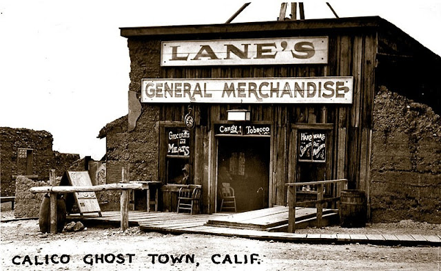 Lucy Bell Lane lived in Calico off and on for 60 years, and ran the general store.